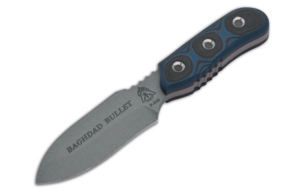 Feststehendes Messer, Blau, Feststehend, 1095, G10