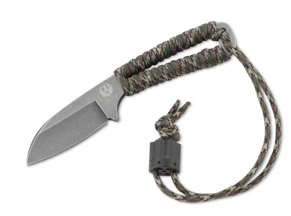 Feststehendes Messer, Grün, Feststehend, 8Cr14MoV, Paracord