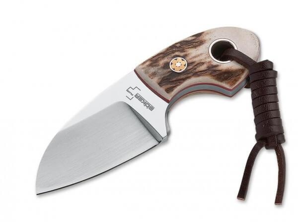 Feststehendes Messer, Braun, Feststehend, 440C, Hirschhorn