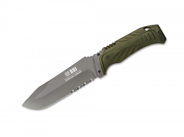 Feststehendes Messer, Grün, Feststehend, 7Cr17MoV, Kunststoff