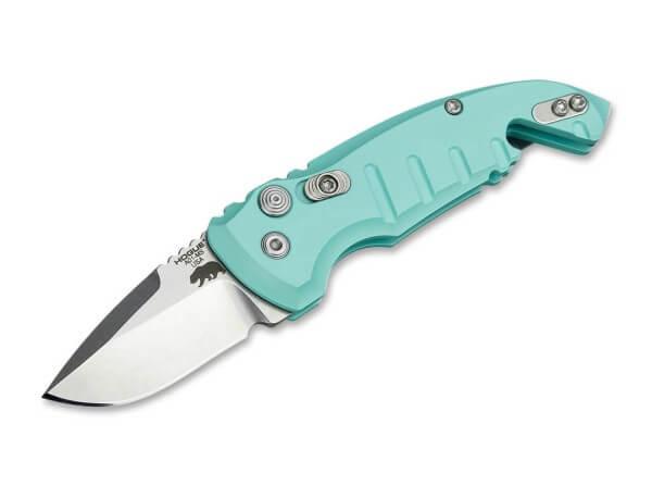 Taschenmesser, Blau, Druckknopf, Druckknopf, CPM-154, Aluminium