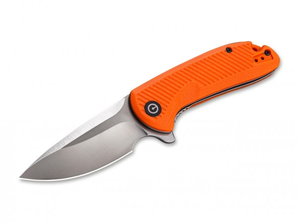 Taschenmesser, Orange, Flipper, Linerlock, D2, G10