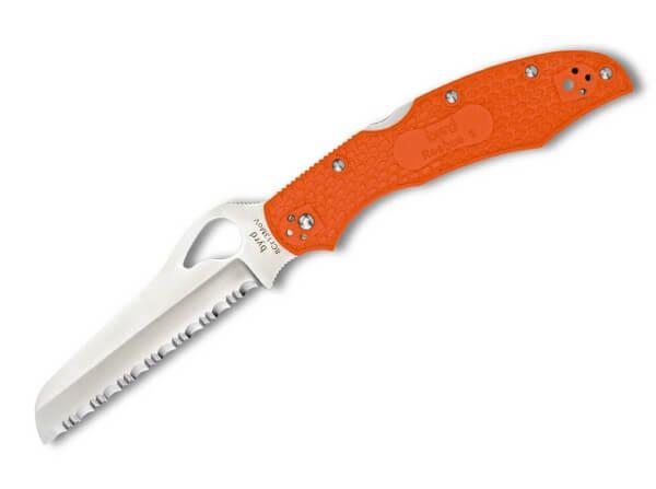 Taschenmesser, Orange, Backlock, 8Cr13MoV, FRN