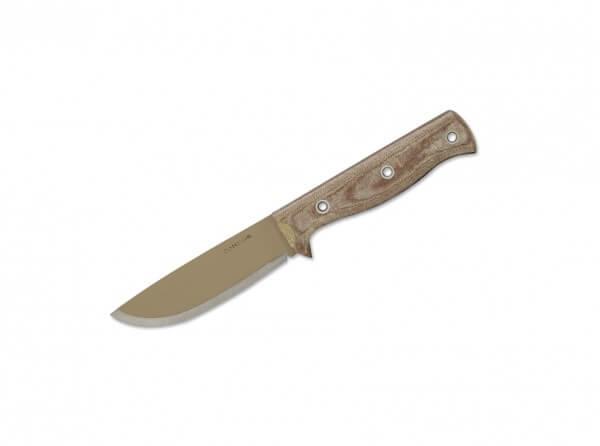 Feststehendes Messer, Khaki, Feststehend, 1075, Micarta