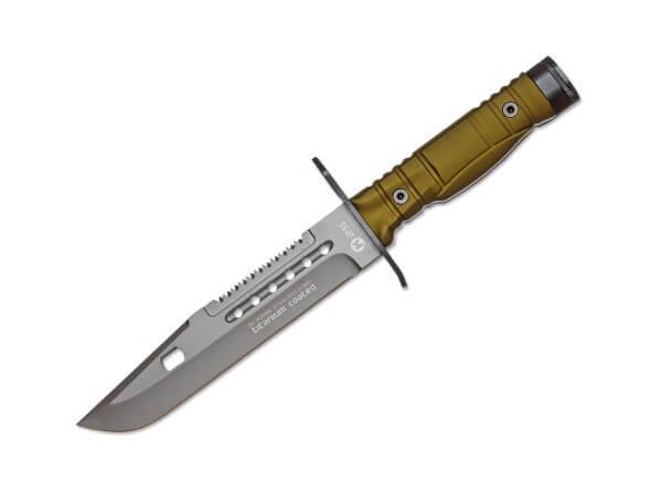 Feststehendes Messer, Grün, Feststehend, 7Cr17MoV, Aluminium