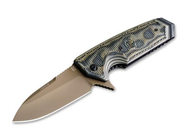 Taschenmesser, Khaki, Flipper, Linerlock, 154CM, G10