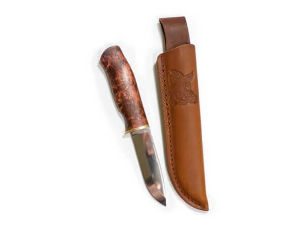 Feststehendes Messer, Braun, Feststehend, 12C27, Birkenholz