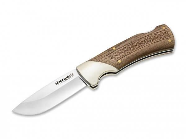 Taschenmesser, Braun, Nein, Backlock, 440A, Holz