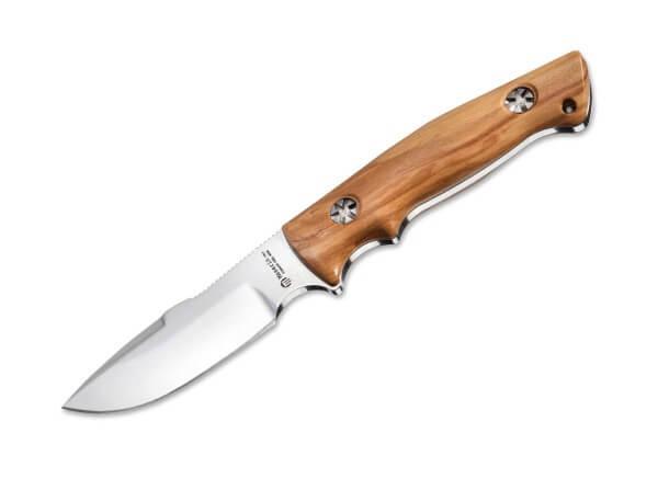 Feststehendes Messer, Braun, Feststehend, N690, Olivenholz