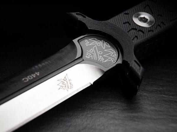 Feststehendes Messer, Schwarz, Feststehend, 440C, G10