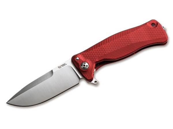 Taschenmesser, Rot, Flipper, Framelock, Sleipner, Aluminium