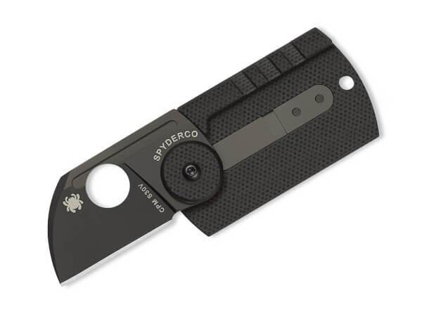 Taschenmesser, Schwarz, Daumenöffnung, Slipjoint, CPM-S-30V, Kohlefaser