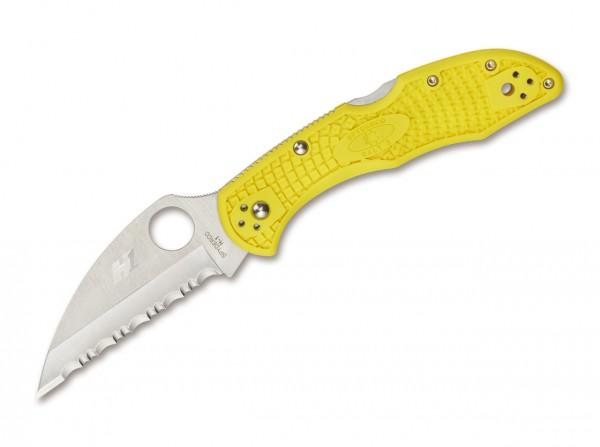 Taschenmesser, Gelb, Daumenöffnung, Backlock, H1, FRN