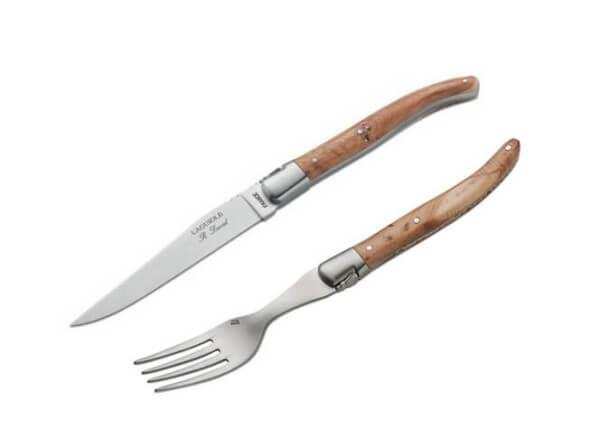 Steakgabel, Braun, Wacholderholz