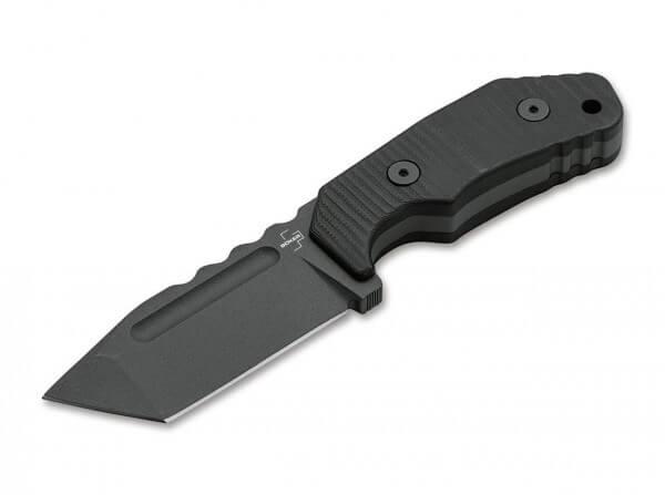 Feststehendes Messer, Schwarz, D2, G10