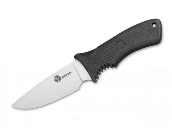 Feststehendes Messer, Schwarz, Feststehend, 440C, Plastisches Elastomer