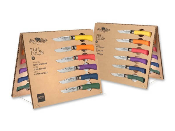 Taschenmesser, Mehrfarbig, Nagelhau, Twist Lock, 420, Holz