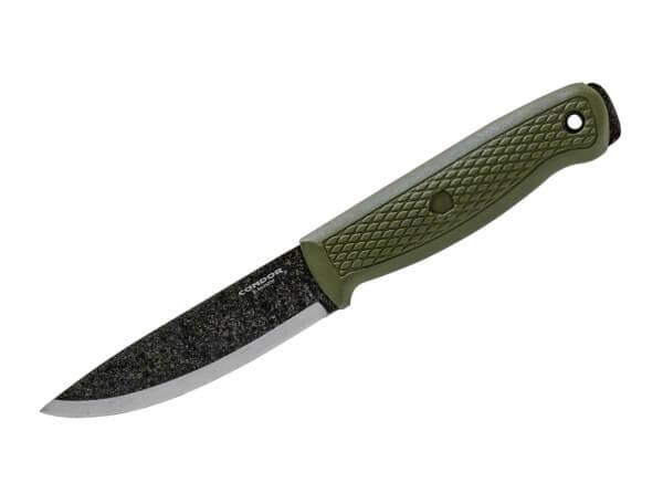 Feststehendes Messer, Oliv, Feststehend, 1095, Polypropylen