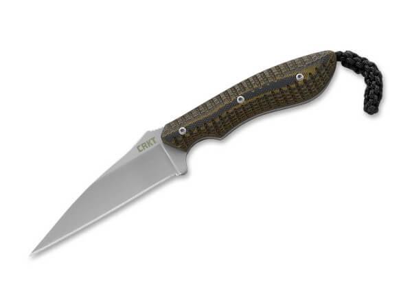 Feststehendes Messer, Braun, Feststehend, 5Cr15MoV, G10