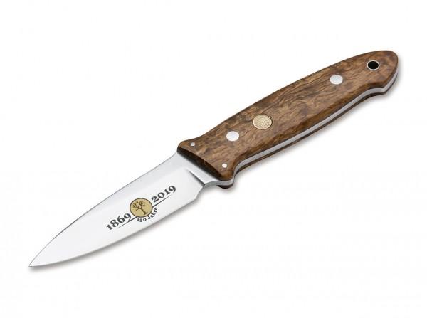 Feststehendes Messer, Braun, Feststehend, N690, Maserbirkenholz