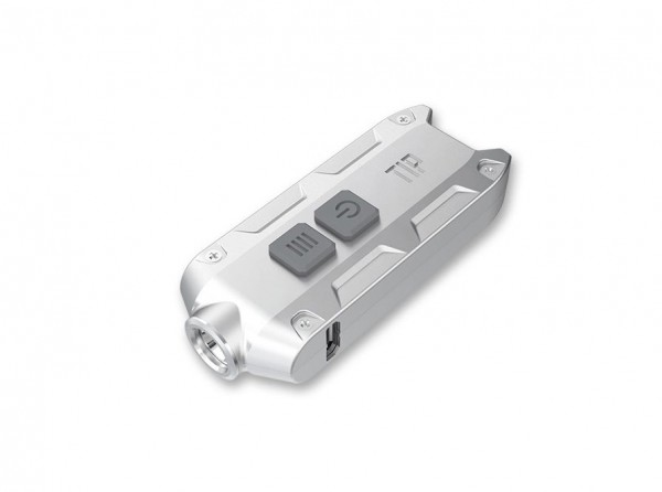 Taschenlampe, Silber, Aluminium