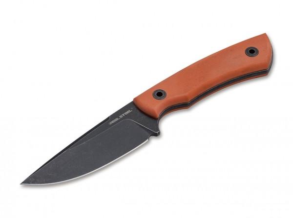 Feststehendes Messer, Orange, Feststehend, 14C28N, G10