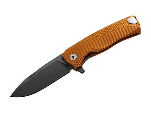 Taschenmesser, Orange, Flipper, Framelock, M390, Aluminium