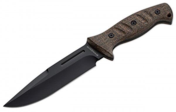 Feststehendes Messer, Braun, Feststehend, 440A, Micarta