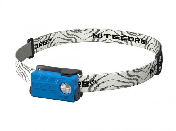 Stirnlampe, Blau, Kunststoff