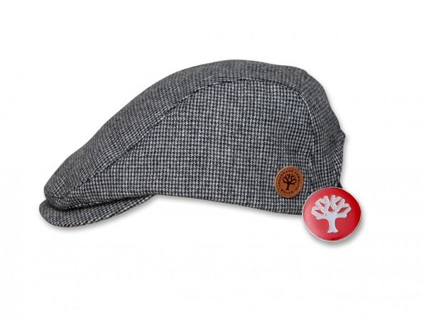 Flatcap und Pin