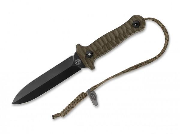 Feststehendes Messer, Grün, Niolox, G10