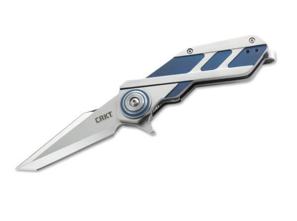 Taschenmesser, Blau, Flipper, Linerlock, 8Cr14MoV, Edelstahl