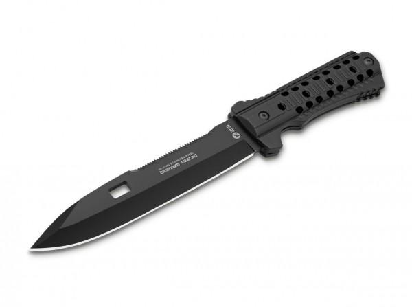 Feststehendes Messer, Schwarz, Feststehend, 7Cr17MoV, Aluminium