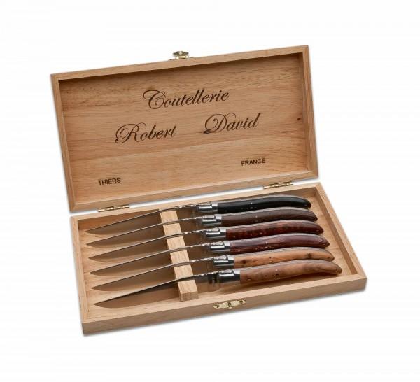 Steakmesser, Braun, Feststehend, 12C27, Holz