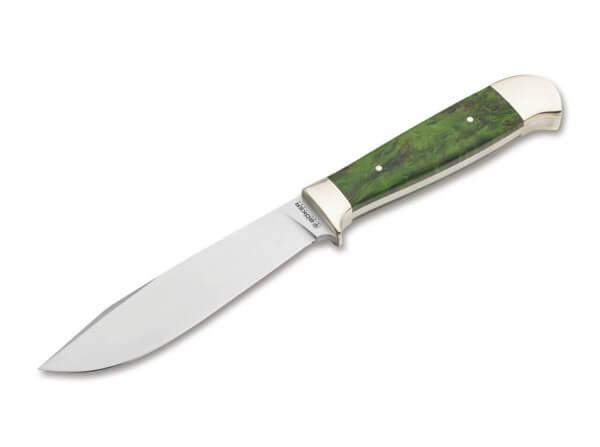Feststehendes Messer, Grün, Feststehend, N690, Maserbirkenholz