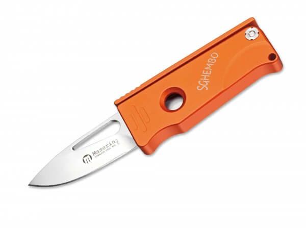 Taschenmesser, Orange, Daumenöffnung, Linerlock, 440A, Aluminium