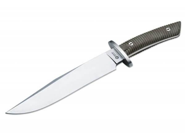 Feststehendes Messer, Grau, Feststehend, N695, Micarta