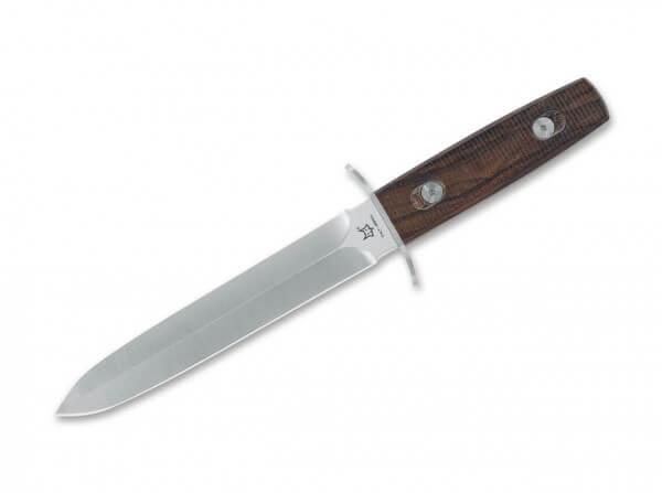 Feststehendes Messer, Silber, Feststehend, N690, Zirikoteholz