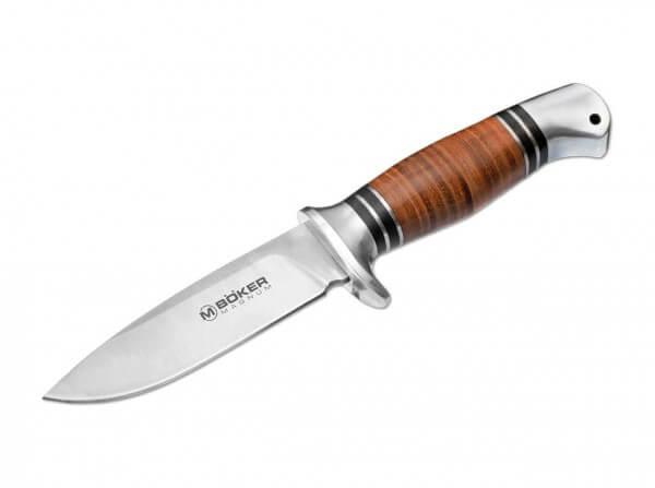 Feststehendes Messer, Braun, Feststehend, 440A, Aluminium