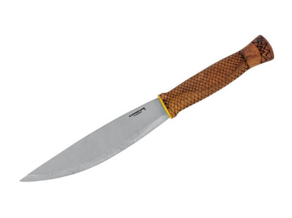 Feststehendes Messer, Braun, Feststehend, 1095, Walnussholz