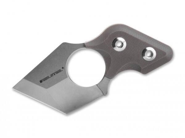 Feststehendes Messer, Braun, Feststehend, 9Cr18MoV, G10