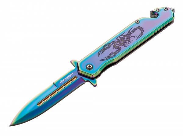 Taschenmesser, Mehrfarbig, Flipper, Linerlock, 440A, Stahl