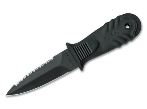 Feststehendes Messer, Schwarz, Feststehend, 4116, Gummi