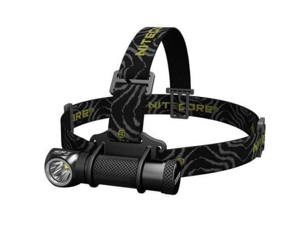 Stirnlampe, Schwarz, Aluminium
