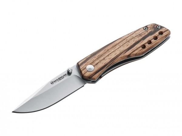 Taschenmesser, Braun, Daumenpin, Linerlock, 440A, Holz