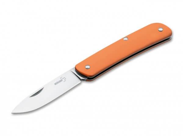 Taschenmesser, Orange, Nagelhau, Slipjoint, 12C27, Kunststoff