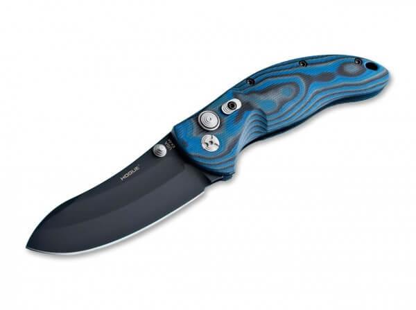 Taschenmesser, Blau, Daumenpin, Druckknopf, 154CM, G10