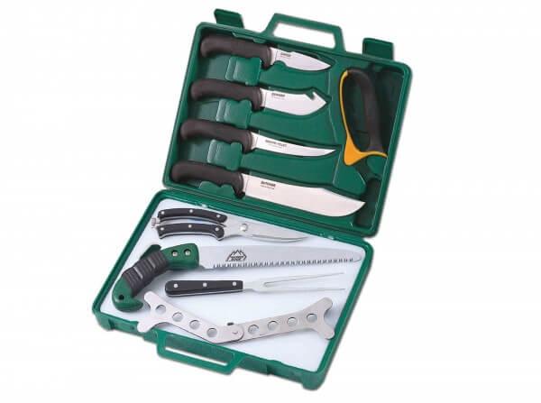 Feststehendes Messer, Grün, Feststehend, 420J2, TPR
