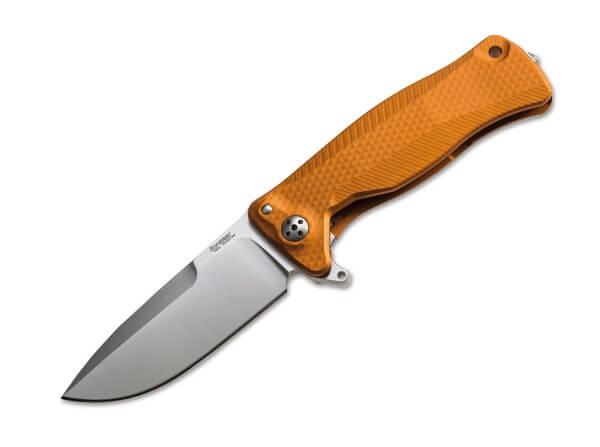 Taschenmesser, Orange, Flipper, Framelock, Sleipner, Aluminium