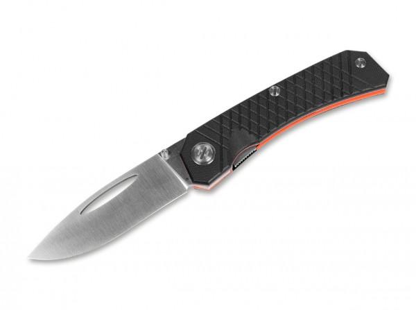 Taschenmesser, Schwarz, Daumenöffnung, Linerlock, K110, G10
